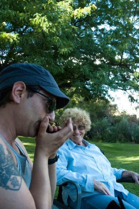Matt & Grandma at Lyons Ferry