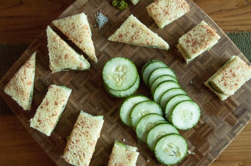 Menu: Cucumber Sandwiches