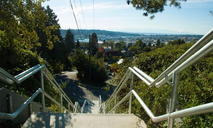 Secret Stairs over Ballard