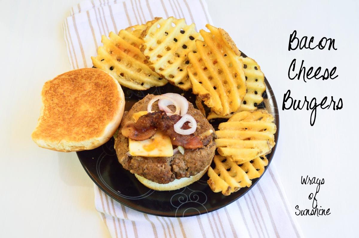 Menu: Bacon Cheeseburgers
