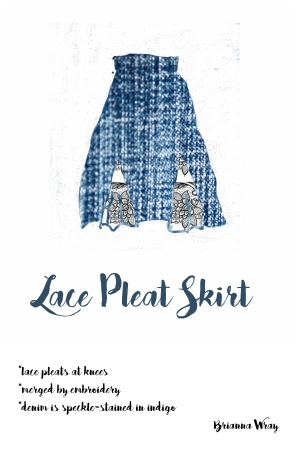 Denim Drawing_2_LacePleatSkirt