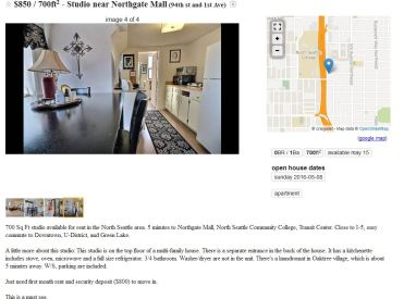 850 studio near northgate