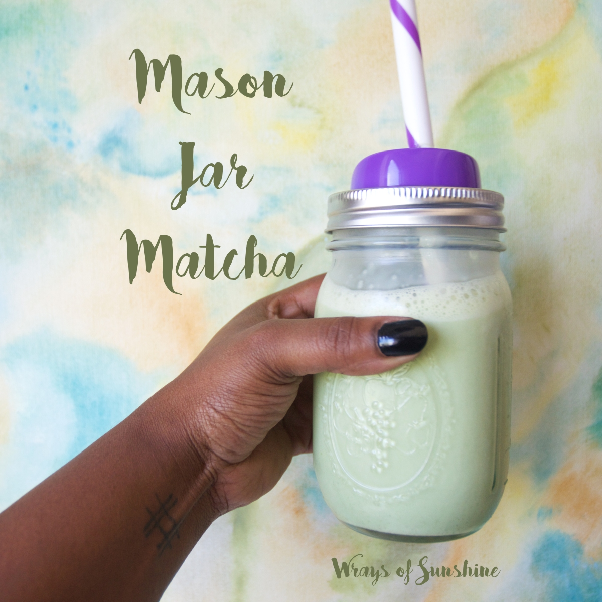 Drink Menu: Mason Jar Matcha